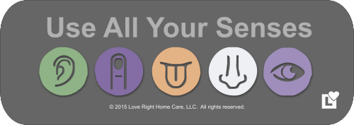 Love Right Home Care - Use All Your Senses
