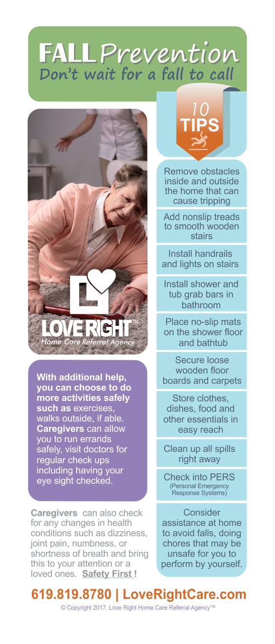 Fall Prevention Awareness - Love Right Home Care
