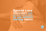 Spread Love - comforting hand on an elderly persons back