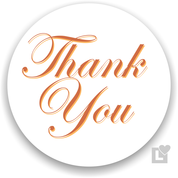 Thanksgiving - thank you sticker